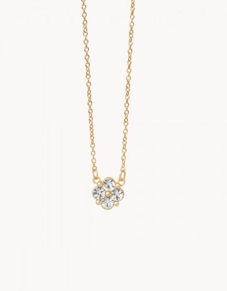 Sea La Vie Blessed Crystal Necklace - Gold