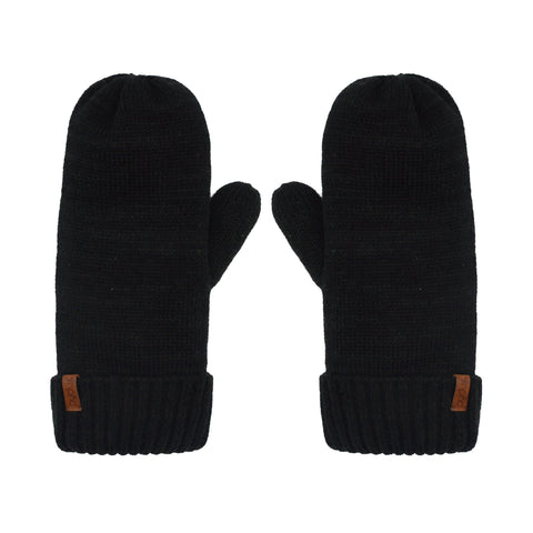 Knit Mittens | Black