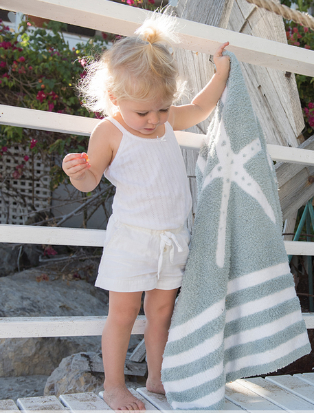 Starfish Baby Blanket - Assorted Colors