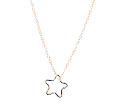 "16"" Necklace Gold - Star Gold Charm"