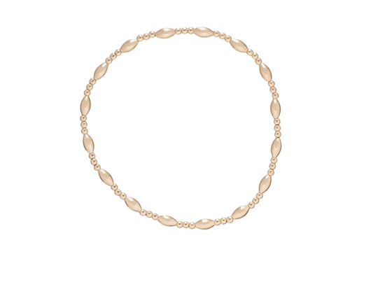 Bead Bracelet - Gold Harmony Sincerity Pattern 2mm