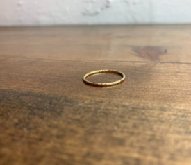 Classic Gold Thin Band - Textured