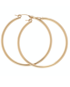 "Hoop - 1.25"" Round Gold Smooth"