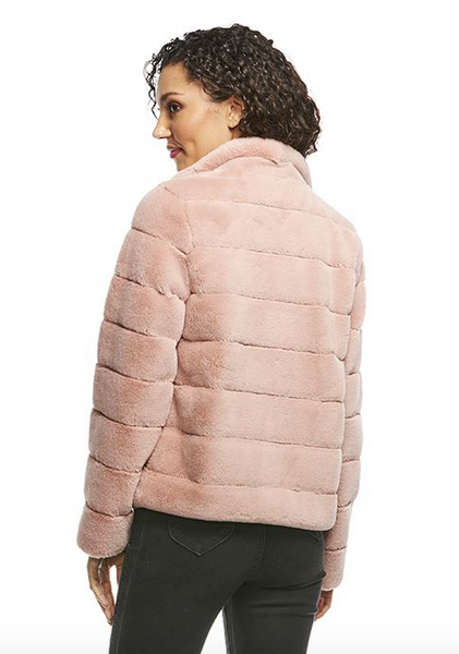 MAUVE PERFECT LITTLE FAUX FUR JACKET