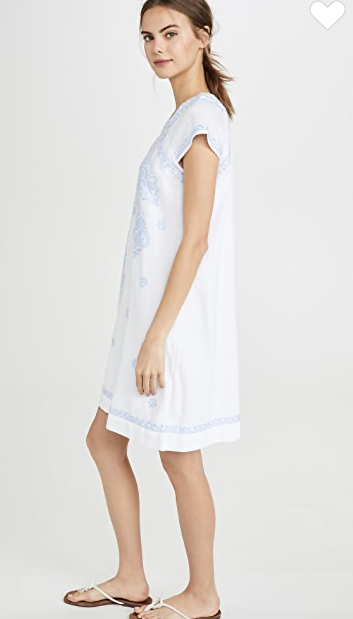 Faith Dress - White/Cloud