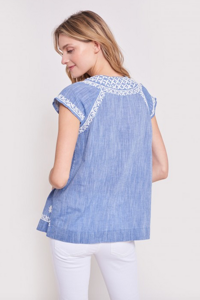 Faith Top - Chambray
