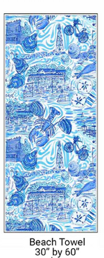 Load image into Gallery viewer, BEACH TOWEL - MARBLEHEAD