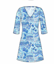 LULU DRESS - MARBLEHEAD