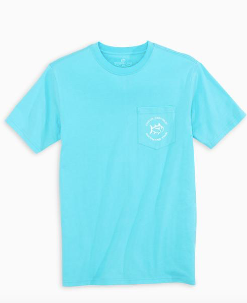 Conch Tee - Crystal Blue