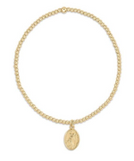 Load image into Gallery viewer, Bead Bracelet - Classic Gold 2mm Protection Gold Charm