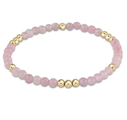 Bead Bracelet - Worthy Pattern 4mm Rose Quartz