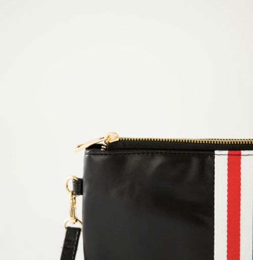 Preppy Zipper Clutch - Marblehead Stripe
