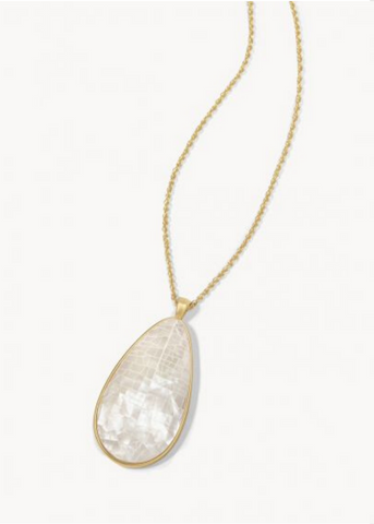 CRUSHED PEARL NECKLACE - Gold/White