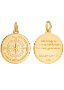 Colby Davis Pendant: GOLD Compass Rose