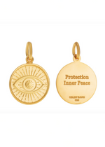 Load image into Gallery viewer, Colby Davis Pendant: GOLD Evil Eye