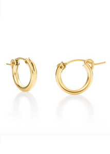 Hoop Earrings - Gold Vermeil