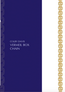 Colby Davis Chain: Gold Vermeil Medium Box