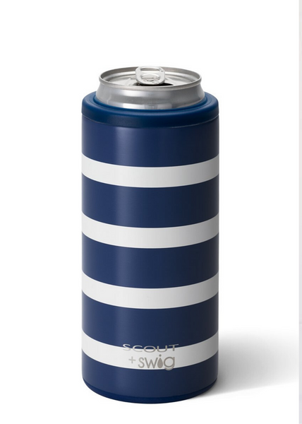 SCOUT+Swig - 12oz Skinny Can Cooler - Nantucket Navy
