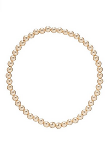 Bead Bracelet - Classic Gold 4mm