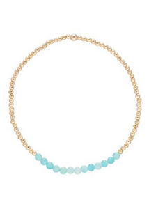 Bead Bracelet - Gold Bliss 2mm Amazonite