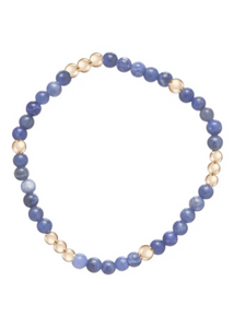 Bead Bracelet - Worthy Pattern 4mm Sodalite