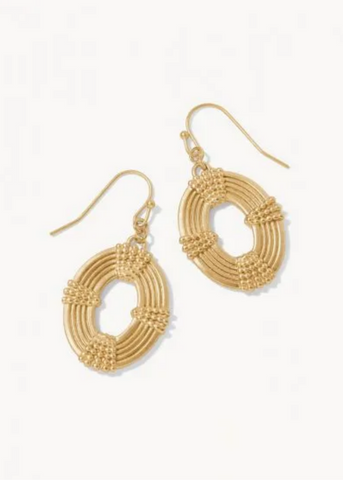 Oval Medallion Earrings