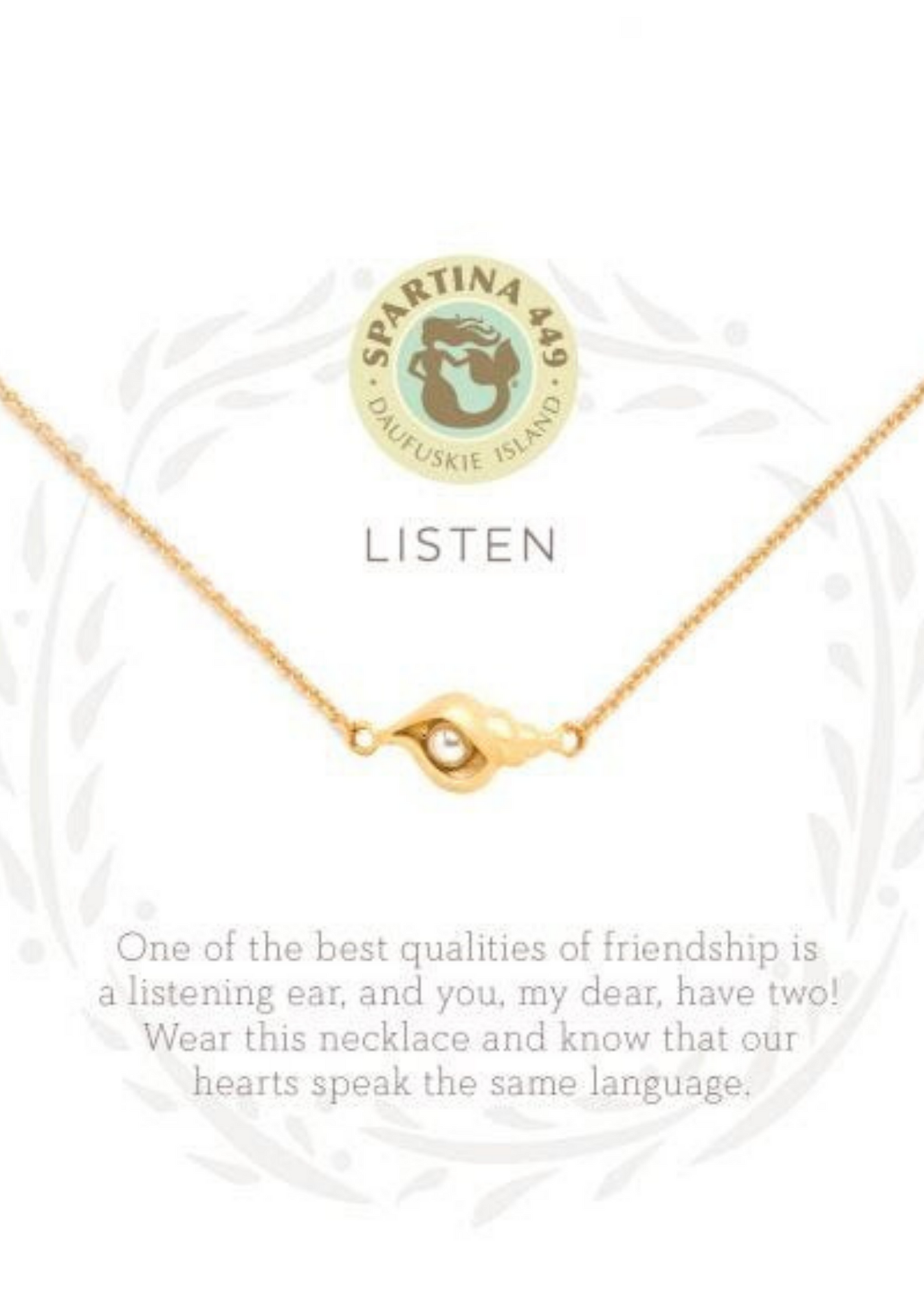 Sea La Vie Listen Necklace - Gold
