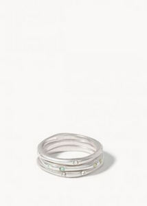 Sprinkles Ring Stack - Silver