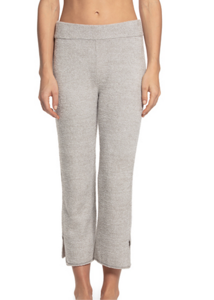 CozyChic Lite Cropped Pant - Heathered Pewter / Pearl