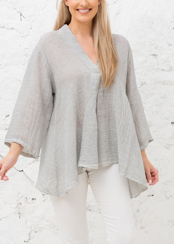 Abigail Top- Grey