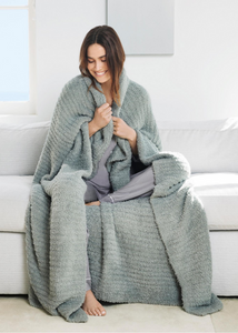 COZYCHIC RIBBED THROW - Sage Green