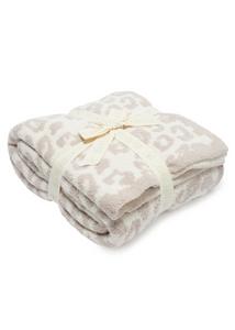 COZYCHIC BAREFOOT IN THE WILD THROW - Cream / Stone