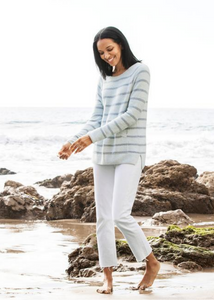 CozyChic Lite Striped Raglan Pullover - Blue Multi
