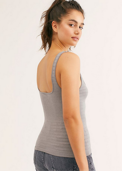 Square One Seamless Cami - Heather Grey