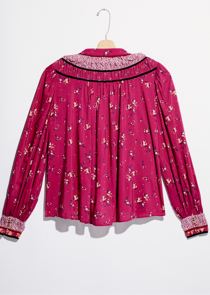 Paloma Printed Blouse - Berry