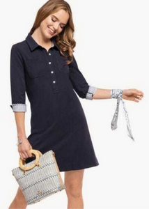 CAMILLA DRESS NAVY