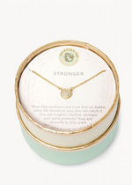 Load image into Gallery viewer, Sea La Vie Stronger Necklace - Gold