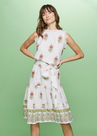 VALLEY FLORAL NAOKI DRESS - White