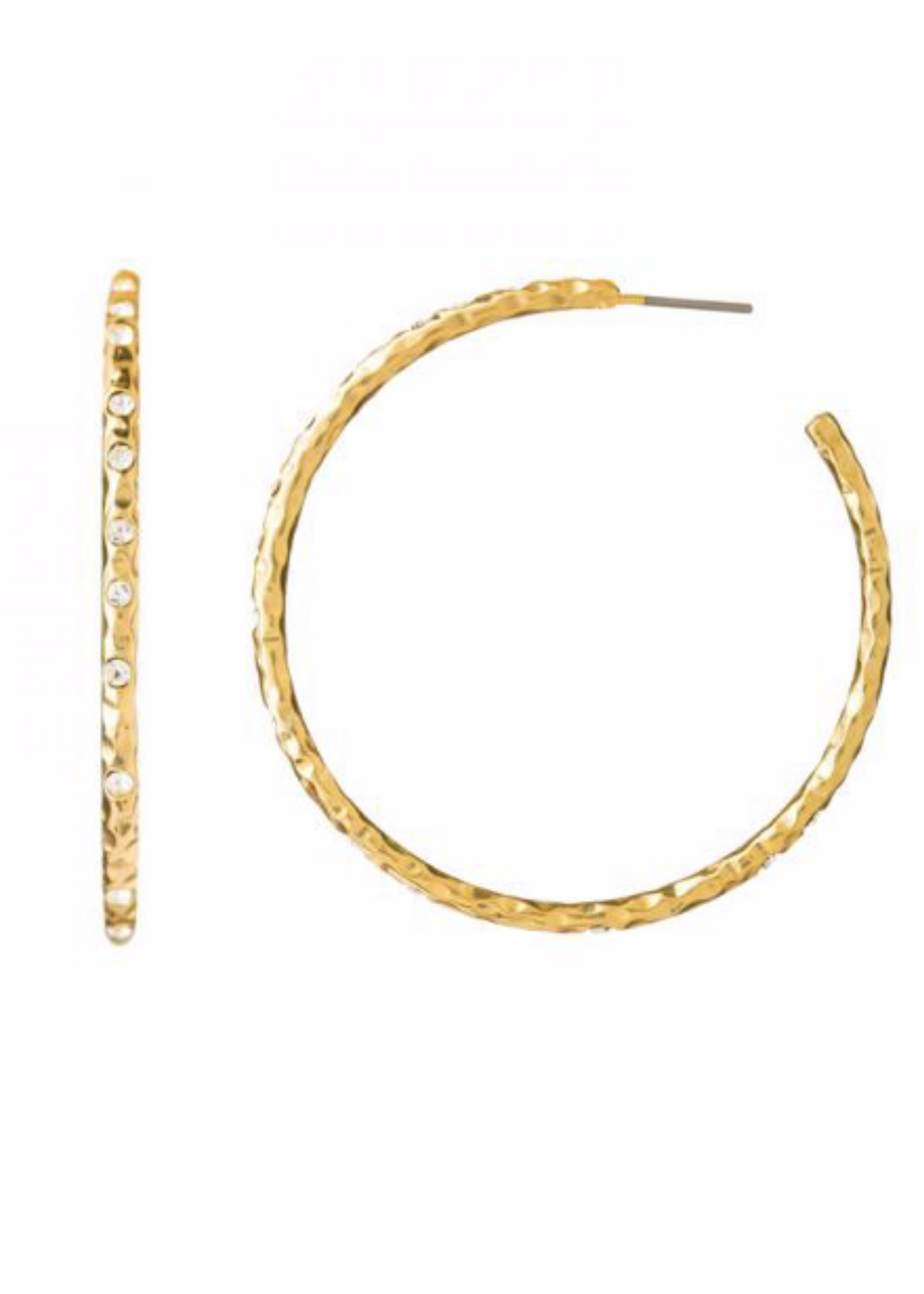 Fizz Hoop Earrings - Gold/Crystal