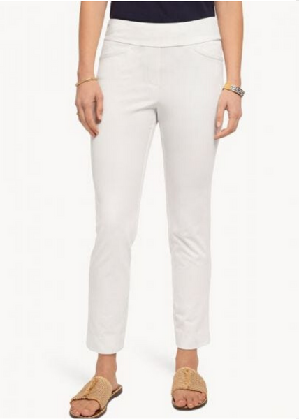 MAREN PULL-ON PANT - Pearl White