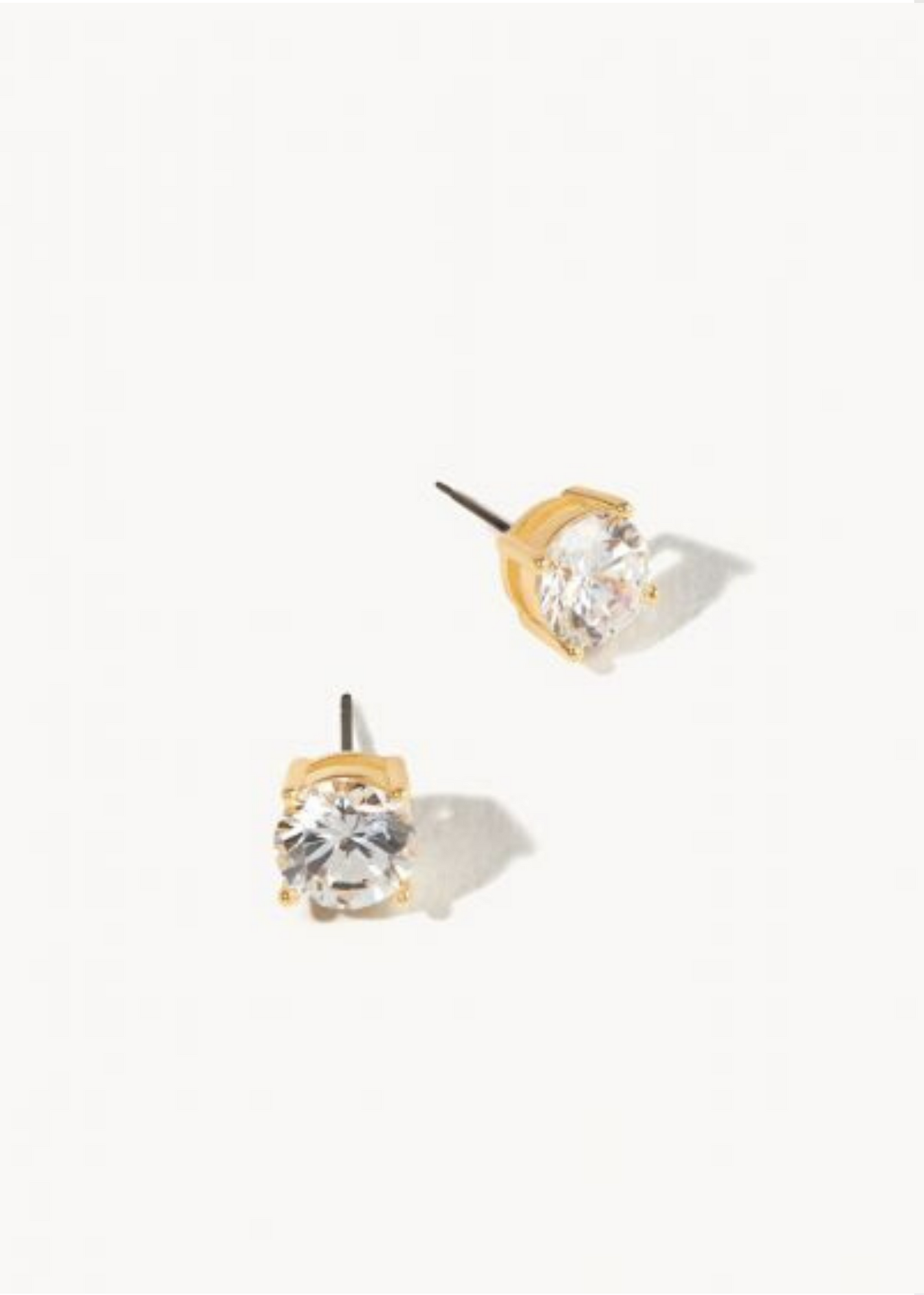 DELICATE SPARKLE STUD EARRINGS - Gold/crystal