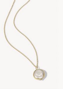 Coin Pearl Petite Necklace 17""