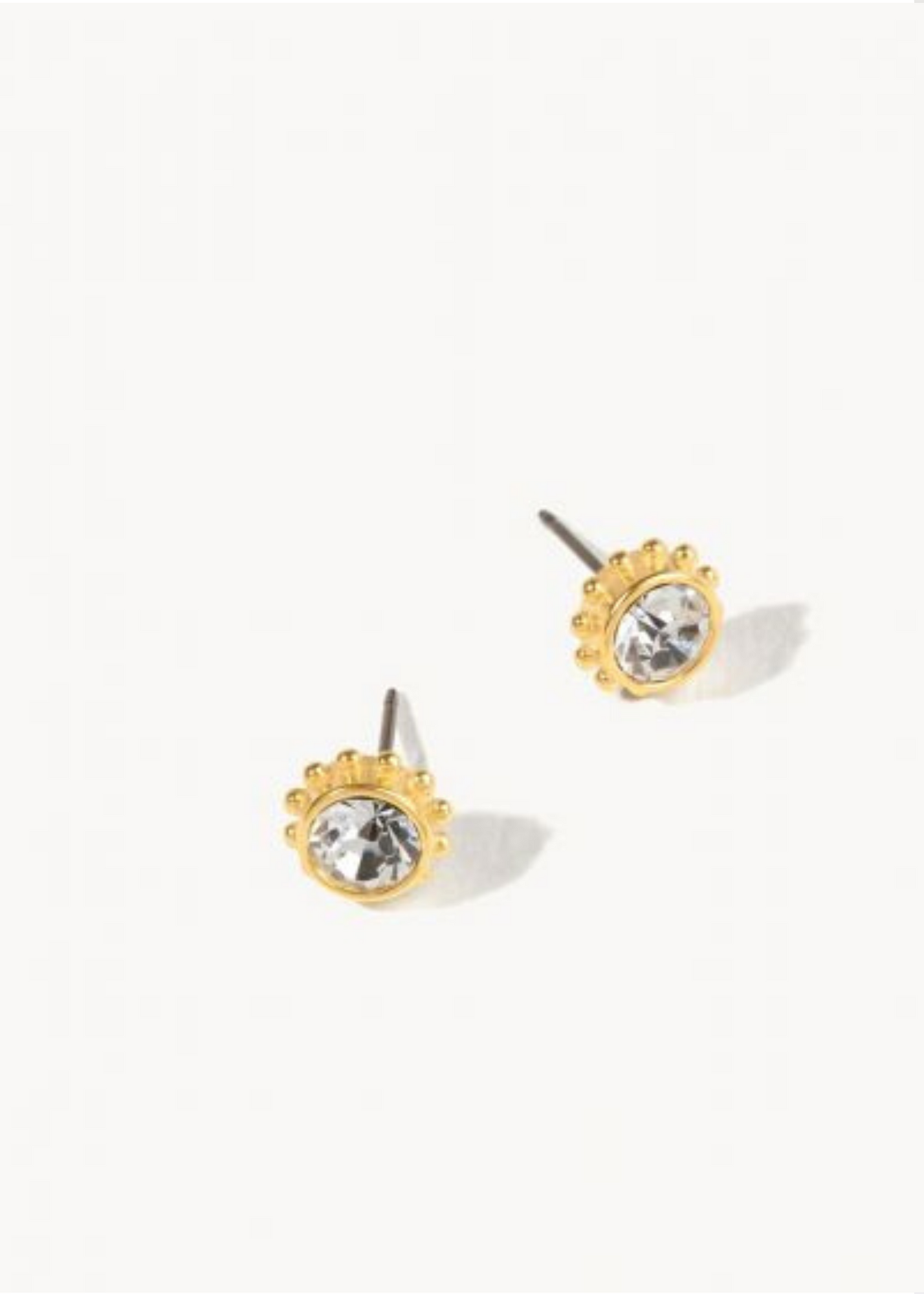 DELICATE ADORNED STUD EARRINGS - Gold/Crystal