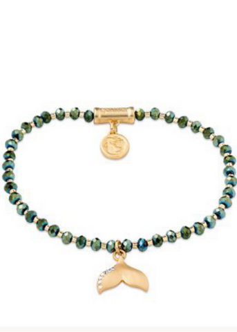 Twinkle Stretch Bracelet - Deep Teal/Tail