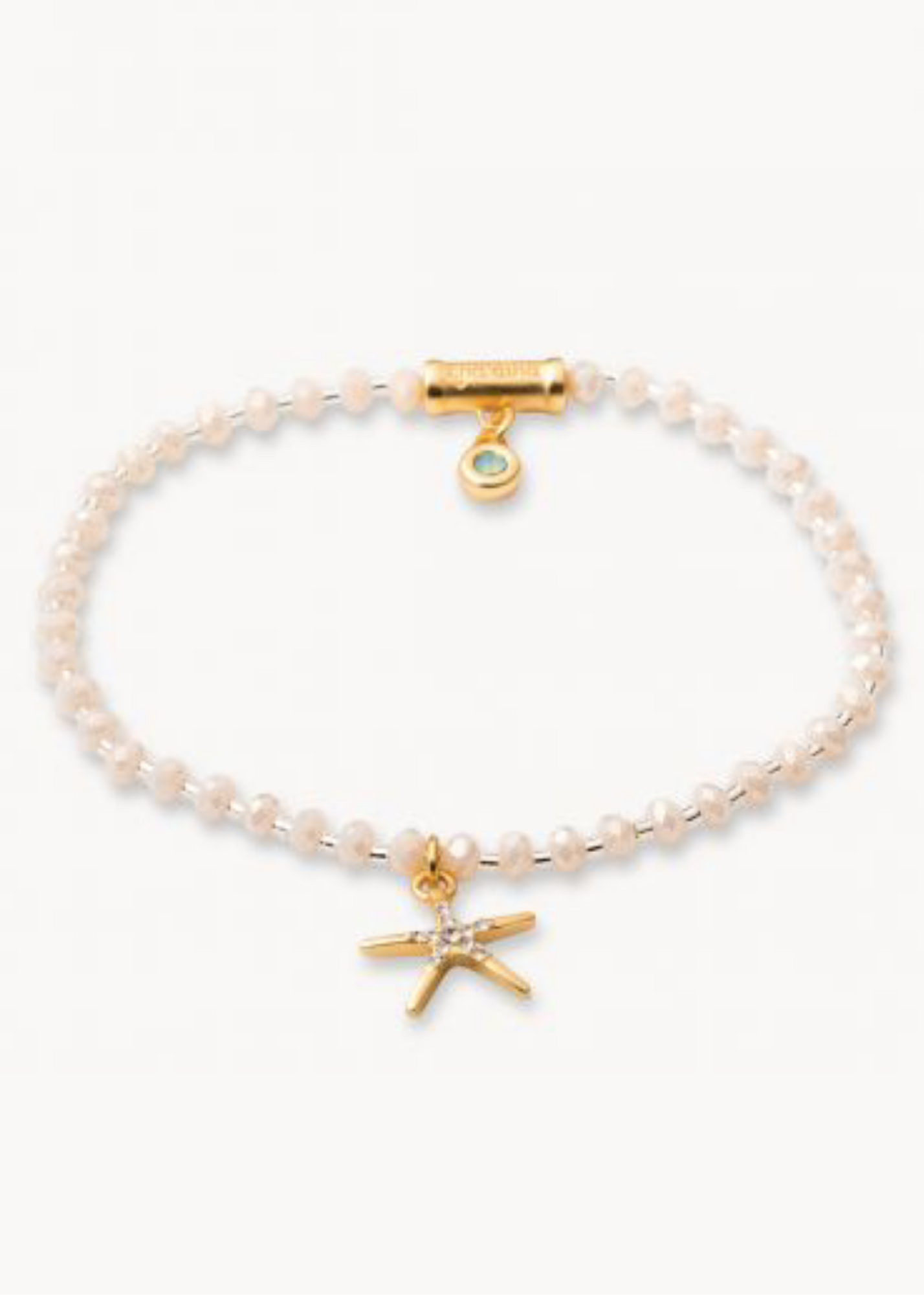 Twinkle Stretch Bracelet - Cream/Starfish