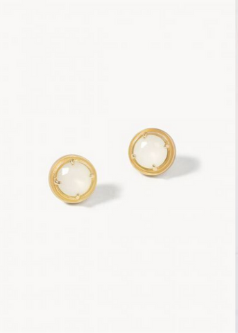 CREMA STUD EARRINGS - Gold/Frosted White