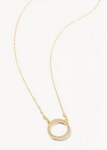 Delicate Eternity Necklace - Gold/Crystal