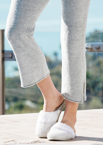 CozyChic Women's Malibu Slipper - Heathered Stone / White