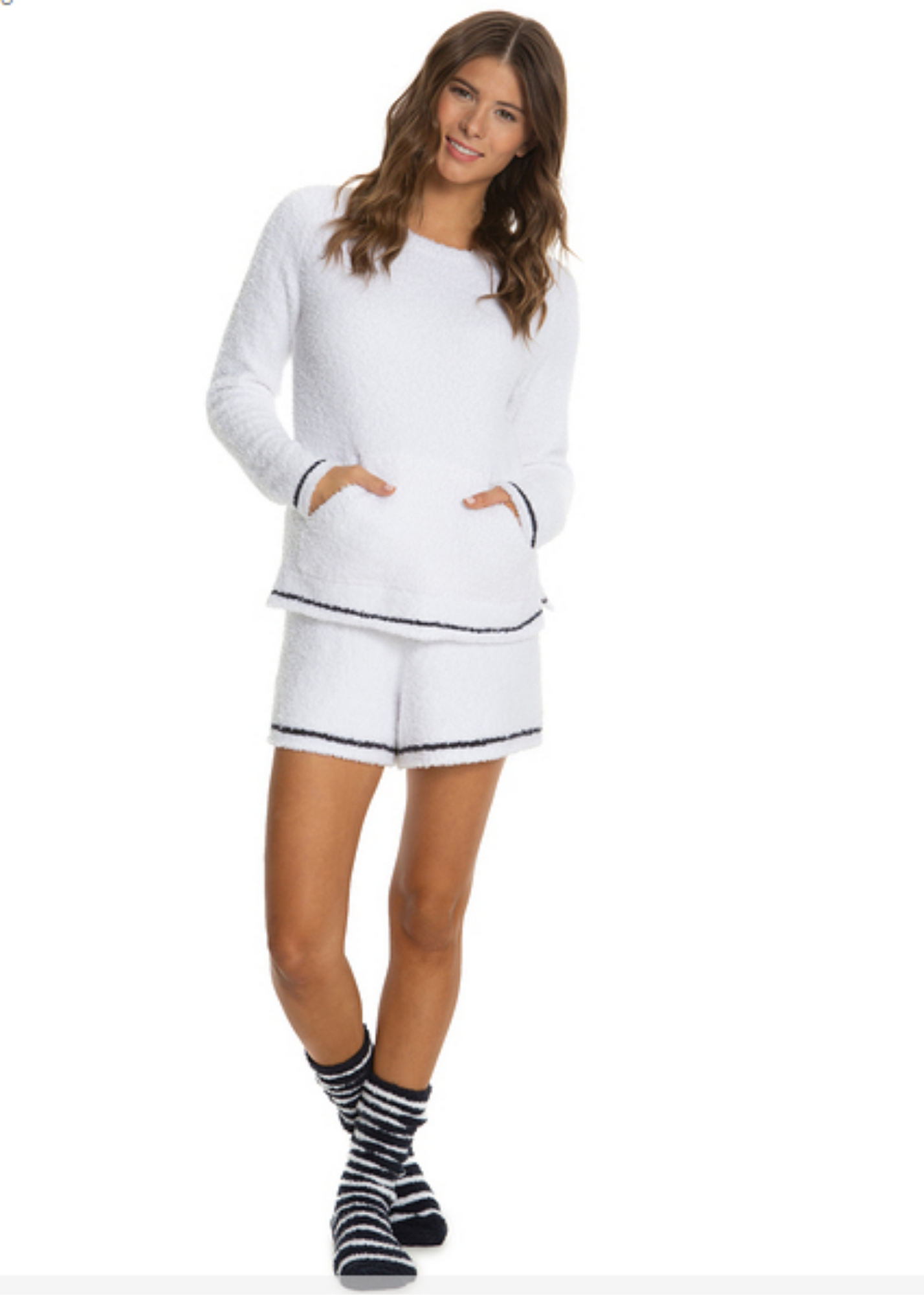 CozyChic Three-Piece Lounge Set - White