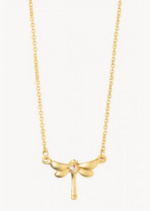 Sea La Vie  Dragonfly Necklace- Gold